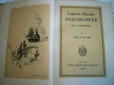 Vintage 1939 Book Captain Horatio Hornblower II Ship of the Line by C.S. Forester