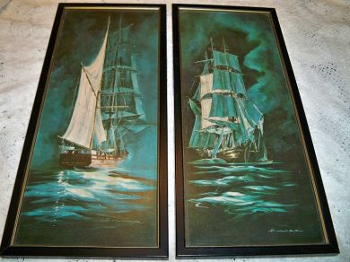 Vintage Sailing Ships Pictures Bulger Nautical Prints