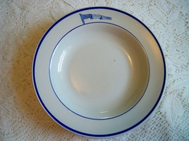 Vintage Tepco China USA Navy Captains Mess Soup Bowl Restaurant Ware
